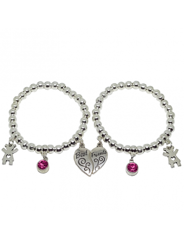 PULSERA BEST FRIENDS PLATA