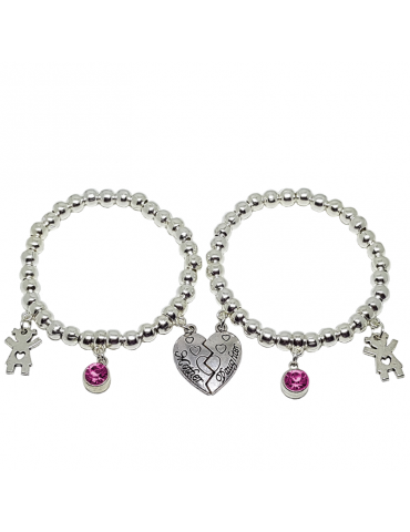 PULSERA MADRE&HIJA ROSE