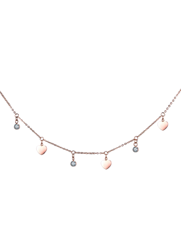 COLLAR LOVE YOU ORO ROSA/PLATA