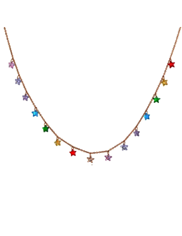 COLLAR RAINBOW STAR ORO...
